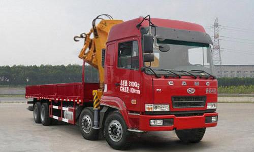 华菱前四后八12-16吨随车起重运输车