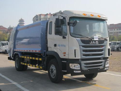 中集牌8吨压缩式垃圾车-JAC