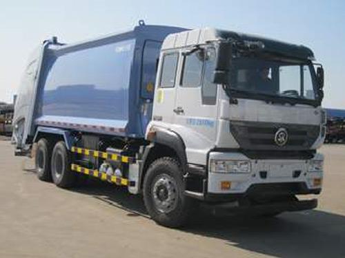 中集牌25吨压缩式垃圾车-重汽