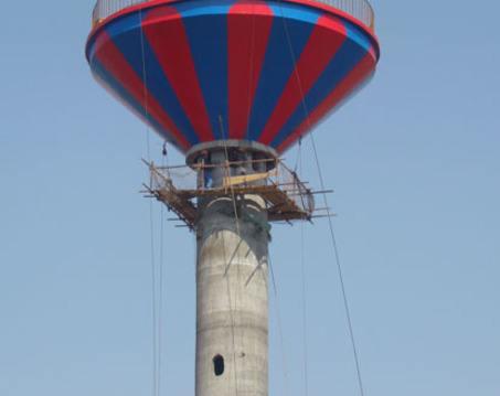 盐城伞形水塔美化
