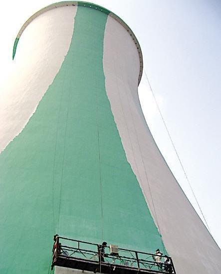 【图解】专业冷却塔内壁外壁防腐 专业冷却塔内壁外壁防腐