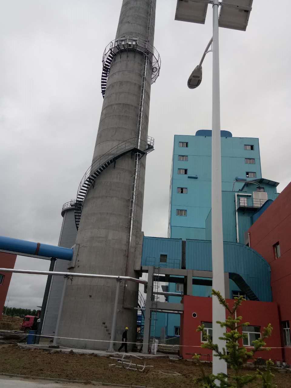 烟囱爬梯平台安装制作