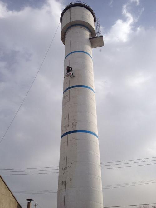 【组图】烟囱亮化工程 冷却塔内壁防腐施工