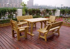 毕节防腐木桌椅