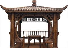 遵义贵州碳化木凉亭