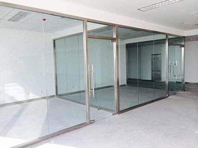 不锈钢单层玻璃隔断