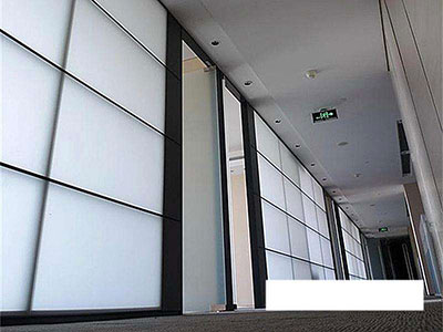 固定双层玻璃隔断安装