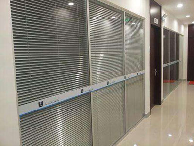 双层百叶玻璃隔断安装