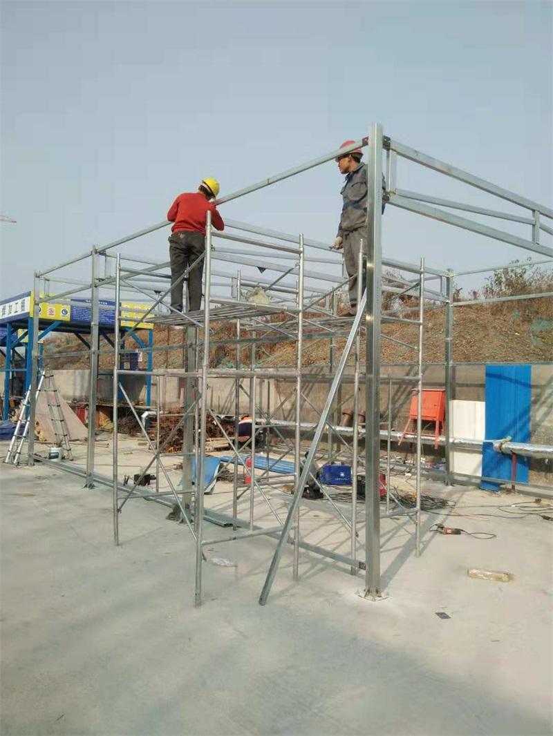 鋼管扣件式鋼筋加工棚
