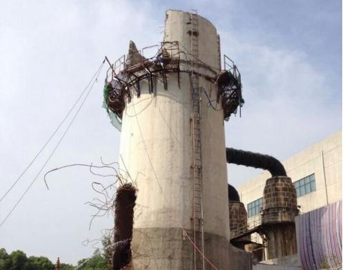300立方倒锥形水塔人工拆除工程