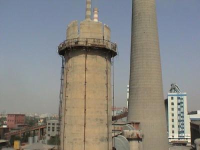 100米水泥烟囱人工拆除