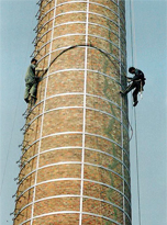 青田县60米砖烟囱碳纤维加固