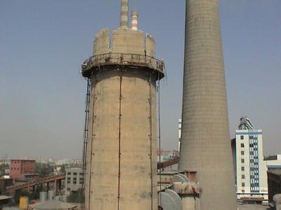 肥东县水泥烟囱拆除工程