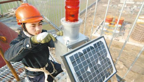 浙江省辽宁省180米烟囱安装航标灯,避雷针,安装平台,爬梯,护网,烟囱维修
