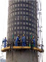 吉林省150米水泥烟囱维修