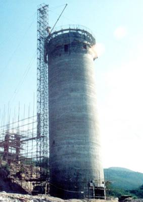六盘水市180米烟囱新建,水塔新建滑模工程,水泥烟囱新建,倒锥形水塔新建,砖烟囱新建,尿素塔新建,灰库新建,钢烟囱新建