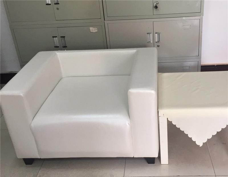 单人商务沙发加小方几租赁