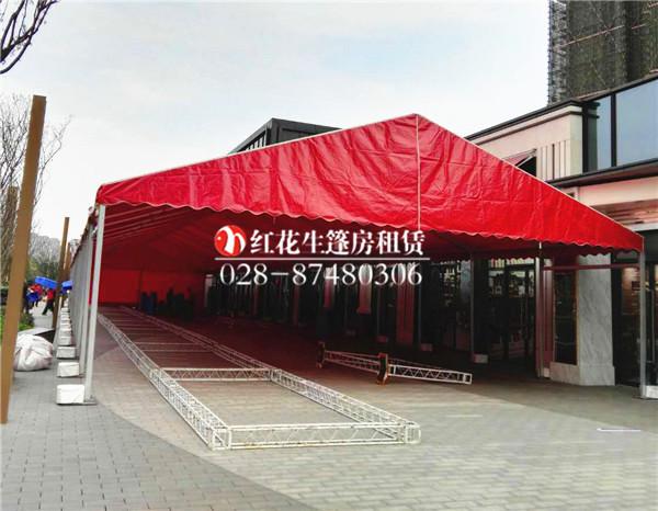 10米跨度红篷房出租