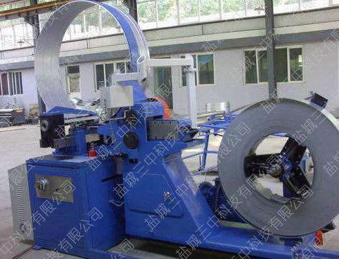 自动滾剪式螺旋风管机