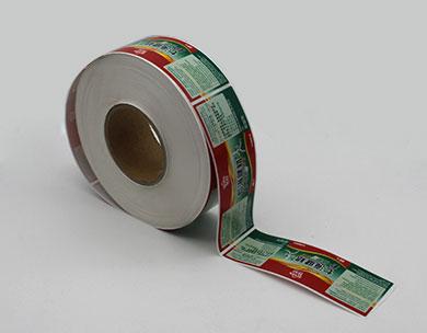 彩色卷裝不幹膠貼紙