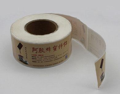 卷裝不幹膠貼紙