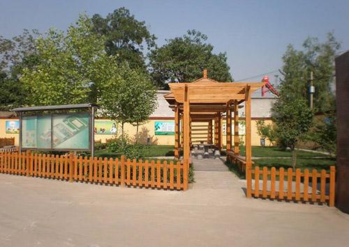 防腐木护栏安装