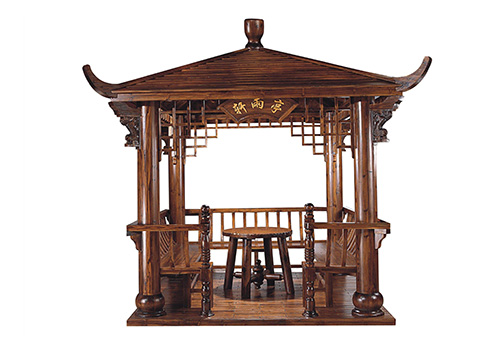 防腐木景观凉亭