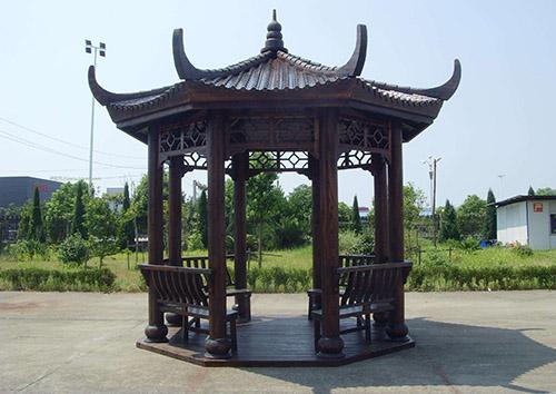 防腐木凉亭设计