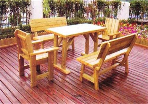 荆州防腐木桌椅