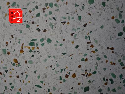 玻璃水磨石地面