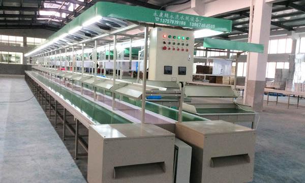 温州双流带桌式装配线