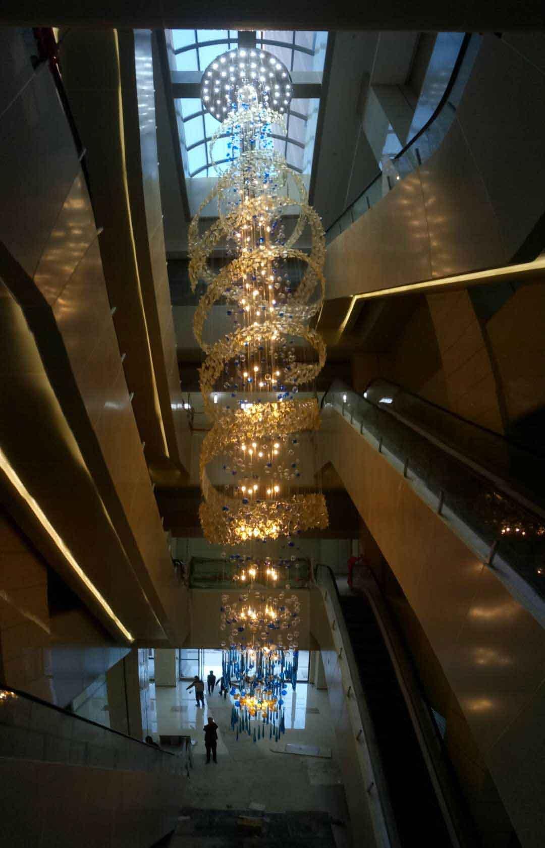 河南文化大厦中堂吊灯