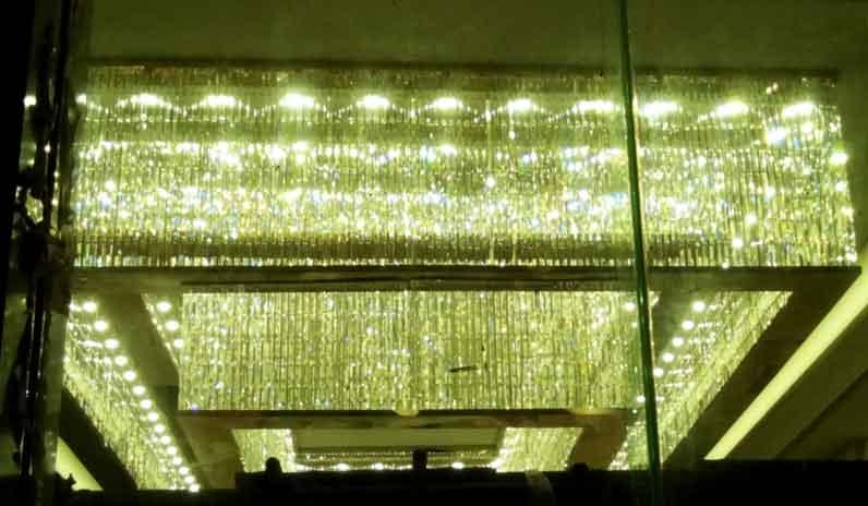 北京江门外摊花园大堂灯