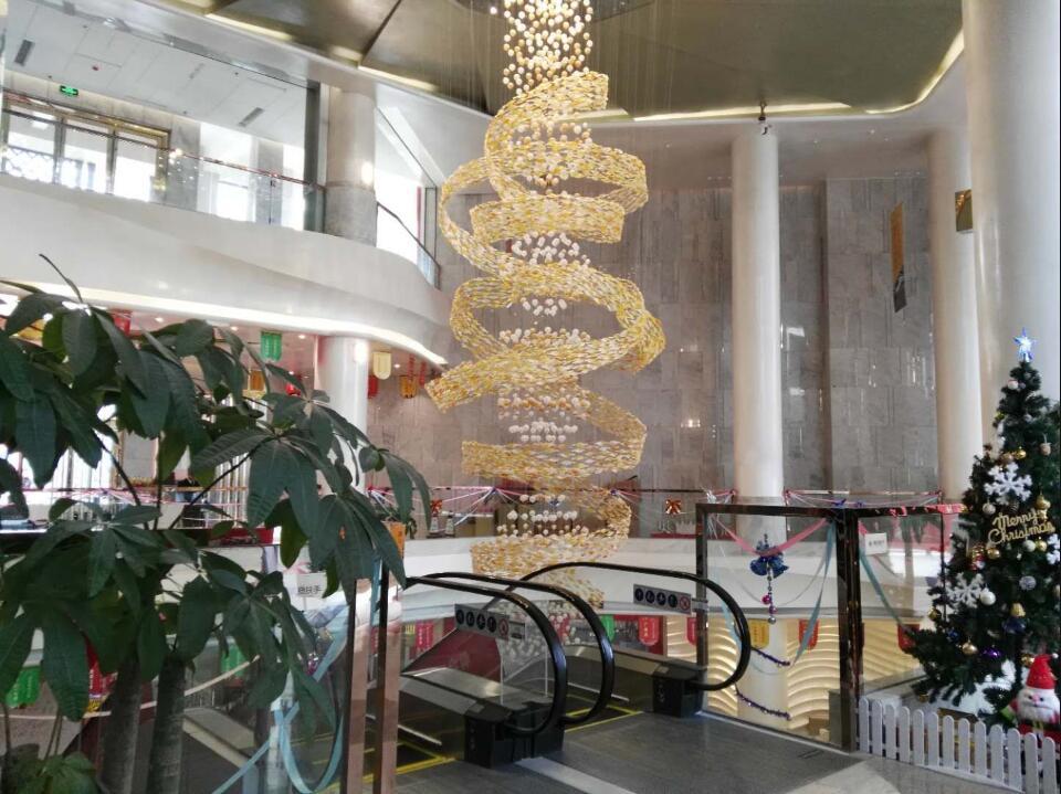 哈尔滨佛山狮山奥海城商场大吊灯