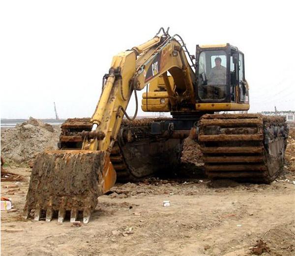 荆州水陆挖掘机租赁