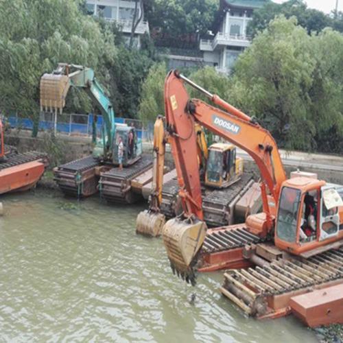 黄冈水陆两栖挖机出租
