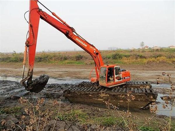 水路两用挖机出租