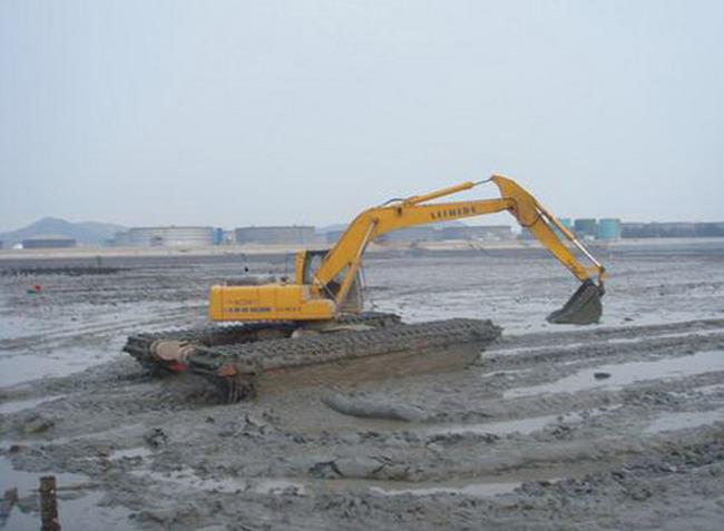 天门湿地挖掘机出租