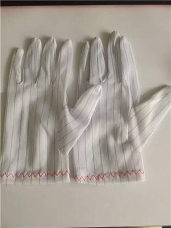 条纹防静电手套