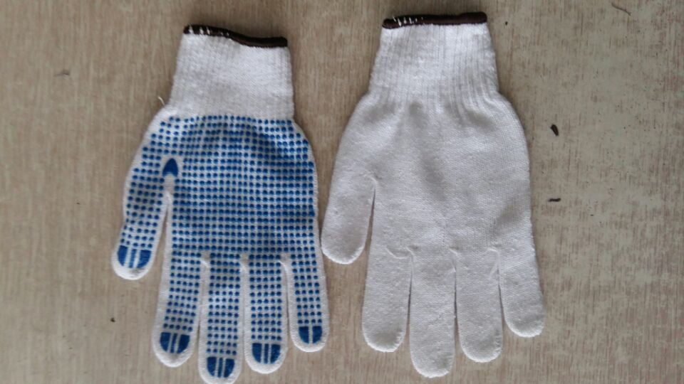 棉线点胶手套