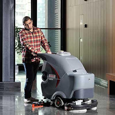 保定手推式双刷洗地机