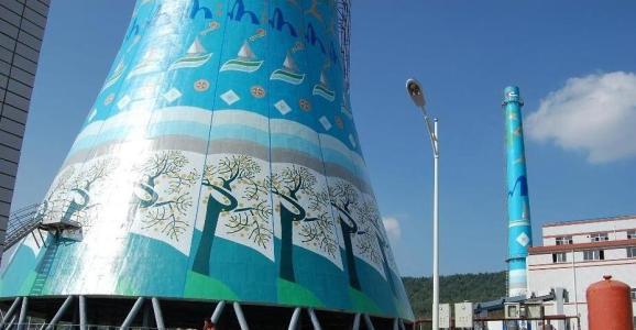 凉水塔刷航标施工