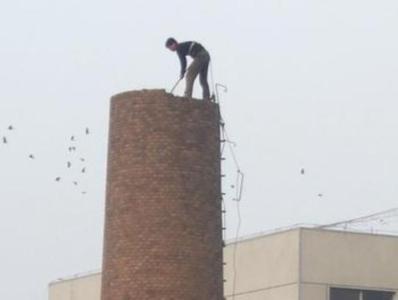 承接砖烟囱拆除
