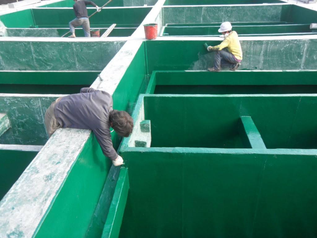 专业水池内壁防腐作业