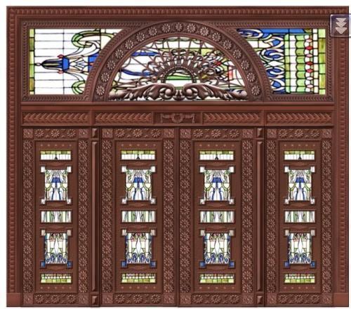 古典豪华铜门
