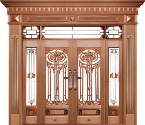 豪华不锈钢铜门