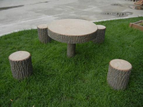 仿木圆桌凳