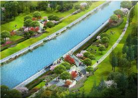 垫江桂溪河滨河绿地