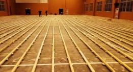 室内木地板篮球场施工