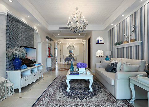 客厅全貌装饰效果